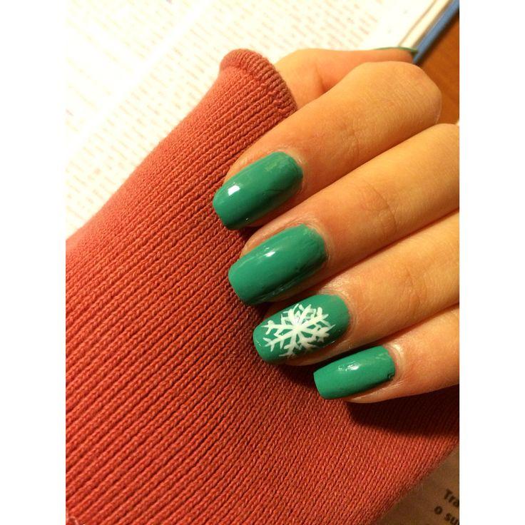 Christmas mode   Blue nails
