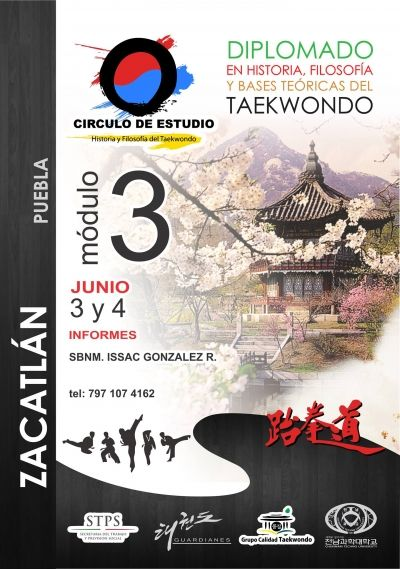 El Círculo de Estudios nos invita al diplomado en historia, filosofía y bases teóricas del Taekwondo