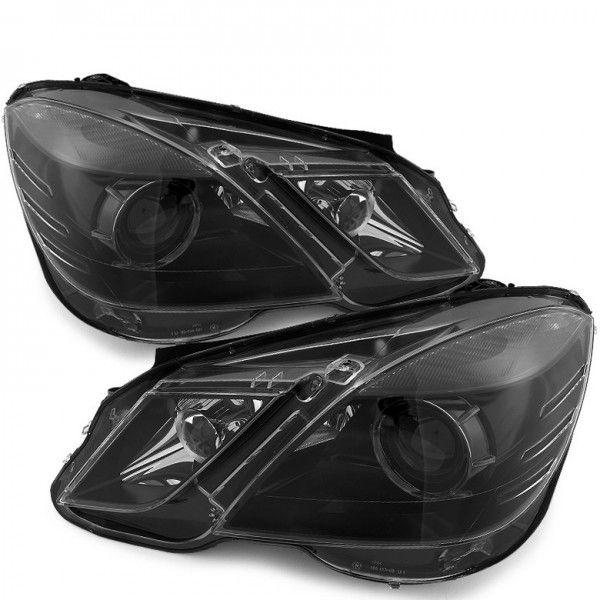 2010-2013 Mercedes-Benz W212 E-Class Projector Headlights - Black | Mercedes Benz | Headlights