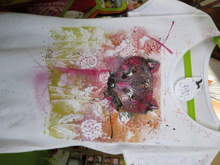 Kreativita hobby květen 2015, triko s liškou a květy