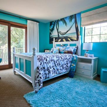 Beautiful Mediterranean Villa : Tropical Kids with a Hawaiian Print From Los Angeles by Genoveve Serge Interior Design, CID # 6795. 10 White Bedroom Furniture Pic for a Tropical Kids with a Hawaiian Print