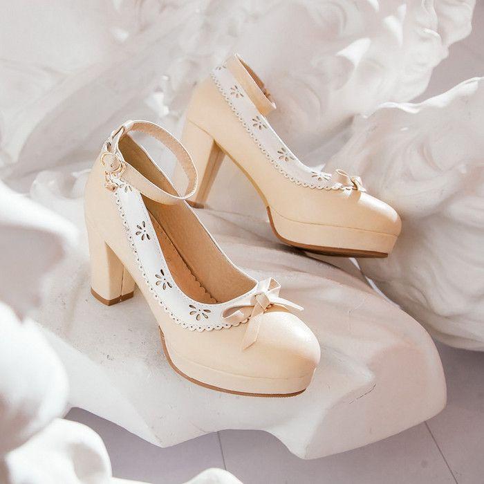 Женщины высокая высокие каблуки свадьба обувь фиолетовый толстый пятки платформа туфли на высоком каблуке обувь женщины розовый свадебные обувь туфли на шпильке обувь купить на AliExpress