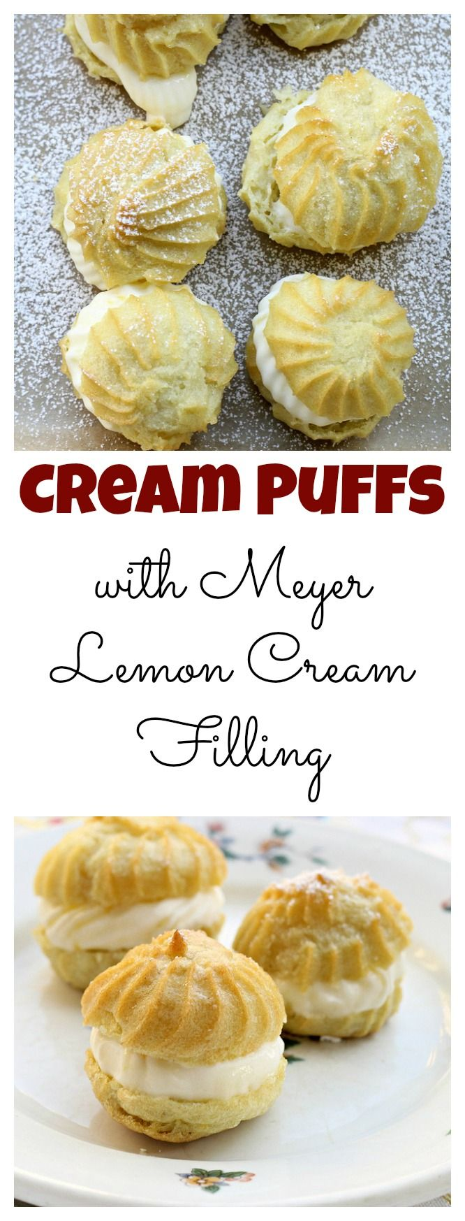 Cream Puffs with Meyer Lemon Cream Filling