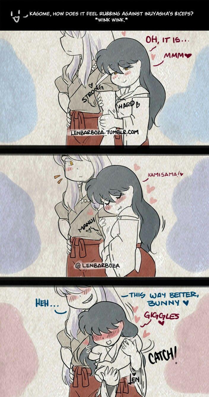Inuyasha Teaching I Love You Anime Inuyasha Anime Sketch