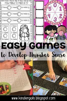 Easy math games to teach number sense.