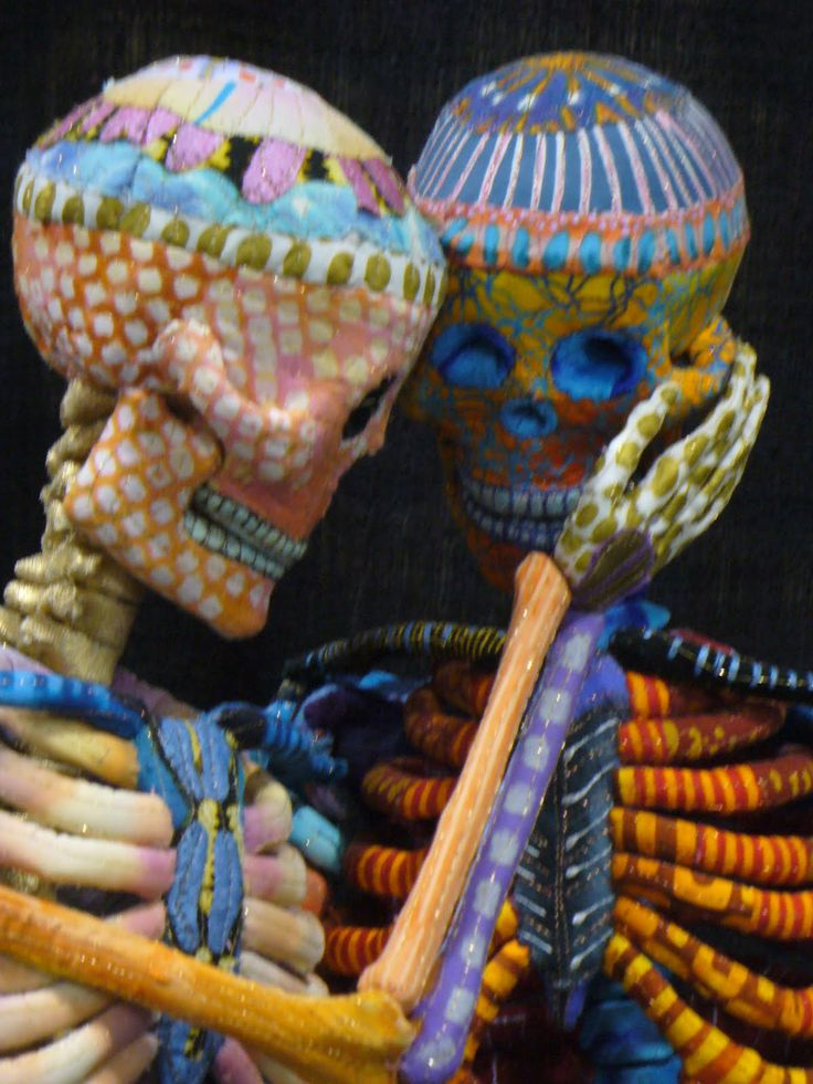 Textile art: skeletons by Susan Else.  Posted by Cindy Needham.