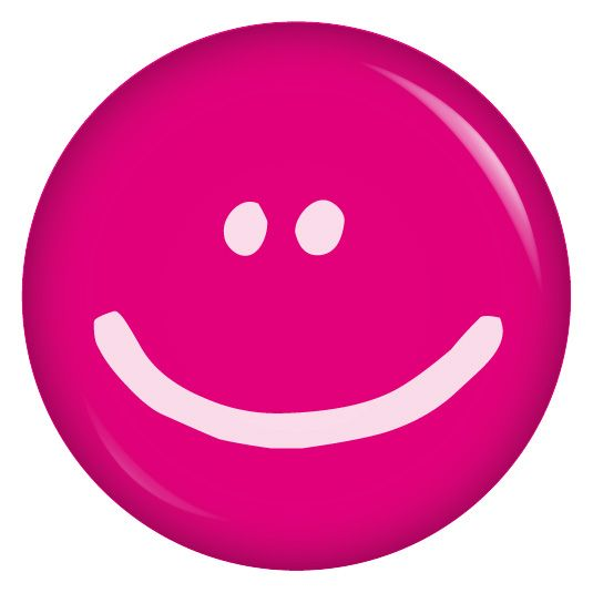 Button Smiley pink – je