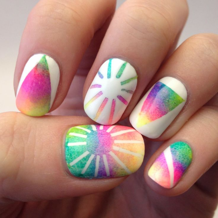 Rainbow nails (inspired by Kesha's awesome rainbow hair)