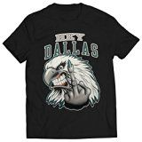 Hey Dallas - Eagle with Finger Mens T-shirt Black 2X-Large