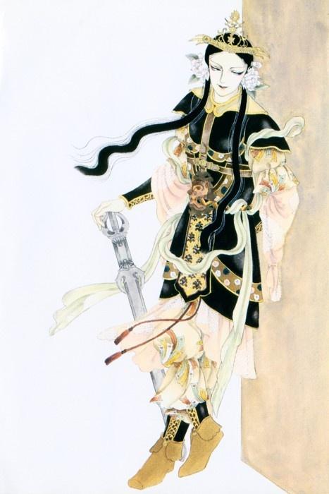 Official art from the supernatural-historical manga Hi Izuru Tokoro no Tenshi by Ryoko Yamagishi.