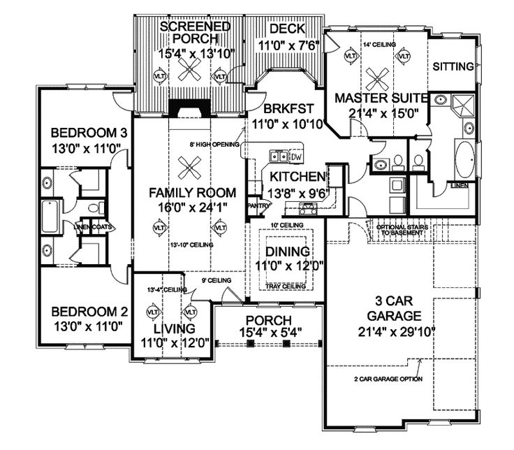 House Plans Floors And Ranch House Plans On Pinterest