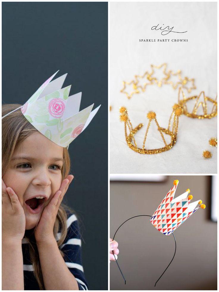 Gorros de fiesta y coronas de princesa DIY - All Lovely Party