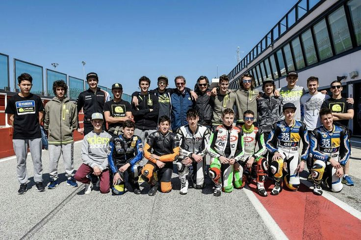 Vale with Riders Academy at Misano