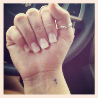 delicate cross tattoos for women -