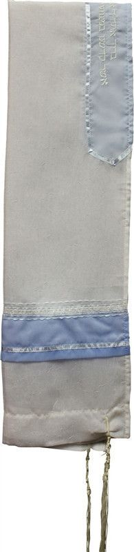 Tallit Sheer Light Blue/White