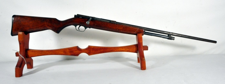 "Stevens Model 59A Bolt-Action Shotgun .410. This bolt-action shotgun by J. Stevens Arms is chambered .410 shells in 2½ and 3"" shells. Brass feed tube. 24"" bbl. $90.00"