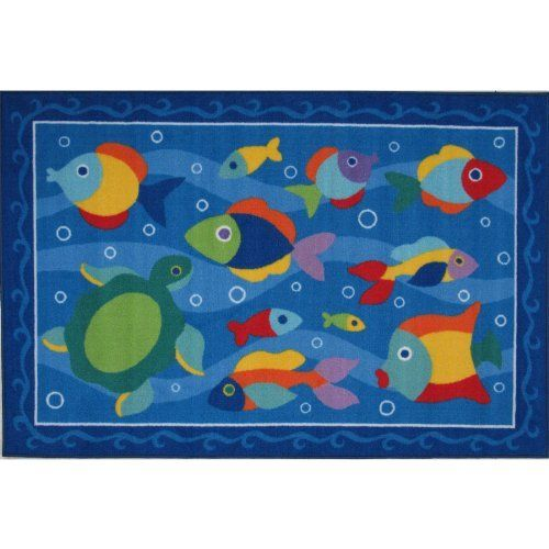 """Something Fishy Area Rug 19""""x29"""" by FindingKing. $29.98. Something Fishy Medium Pile Area Rug 19""""x29""""      This is a new Something Fishy medium pile area rug    Perfect for use in your bathroom, living room, kid's room or as a door mat    It is made of 100% nylon and measures approximately 19"""" x 29"""" (48.26 x 73.66 cm)"""