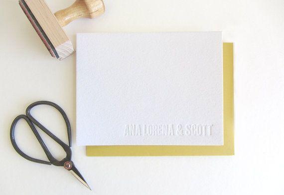 Letterpress  Blind Impression Customized by DahliaPressShop