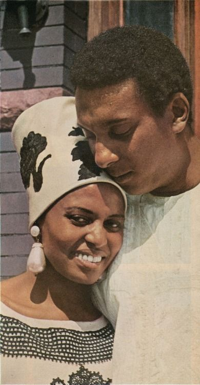 Miriam Makeba and Stokely Carmichael I love this photo-Stokely is usually phographed in just his activist stance. This shows another side.