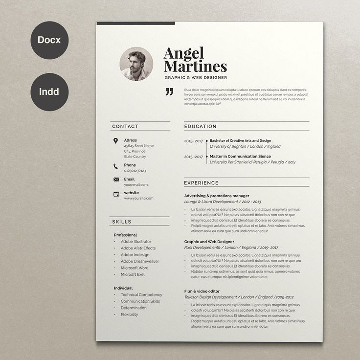 Attractive Resume Angel. Resume Design TemplateCv TemplateResume TemplatesProfessional  ...