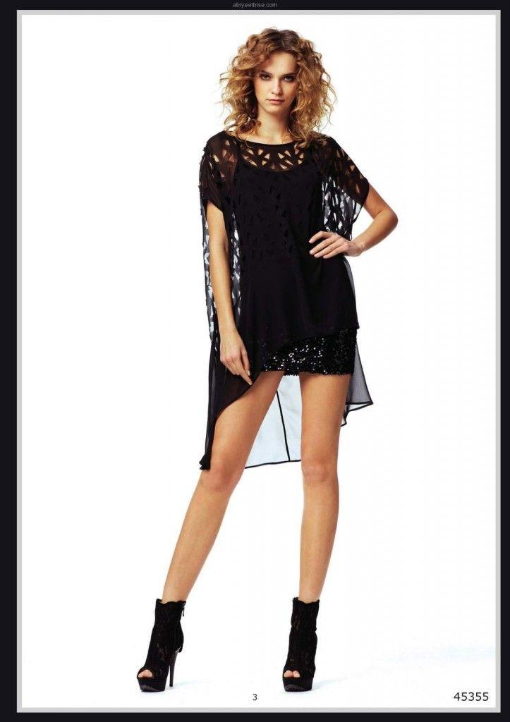 Lamazone kısa siyah yazlık #abiye #elbise 2012 y003 Manken Dilşad Çelebi