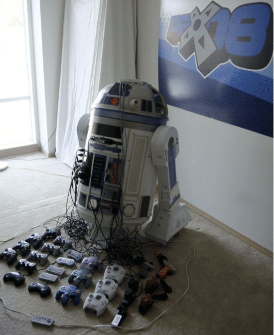 I saw this once- it's like 12 different gaming consoles built into an R2-D2 frame. How do they cool it?