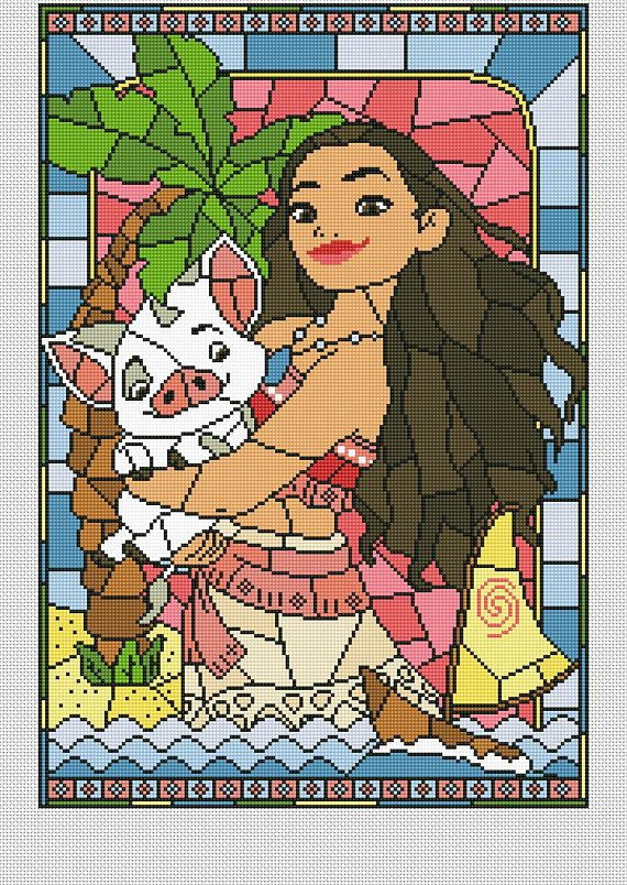 Disney cross stitch pattern Moana cross stitch pattern