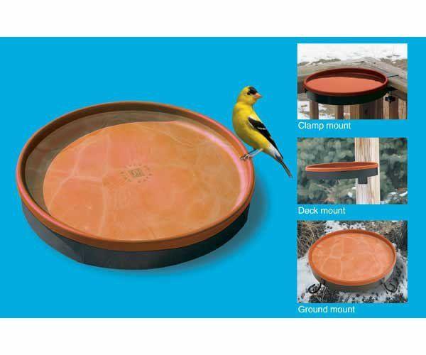 Heated Bird Bath 3 Mounting Options-Terra Cotta