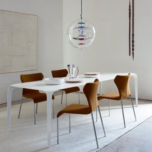 Chaise contemporaine / tapissée / en tissu / en cuir PAPILIO B&B Italia