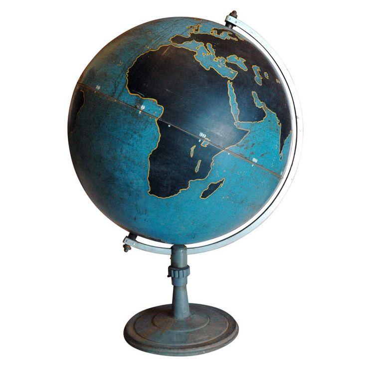 Vintage aviation globe Vintage GlobeMap GlobeWorld