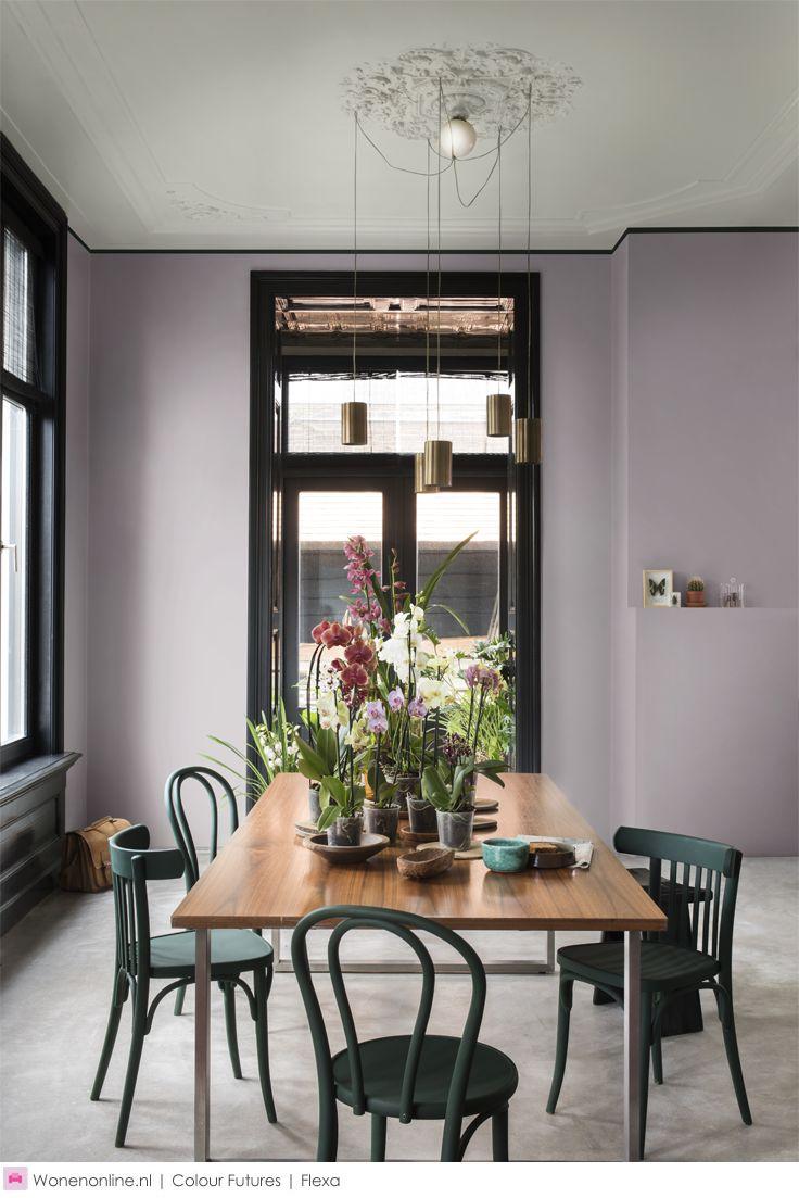 Kleurentrends 2017: Kleurentrend New Romanticism - Deze stijl dompelt je in een wereld vol natuurlijke elementen en geeft een creatieve twist aan je interieur. #kleuren #kleurentrends #2017