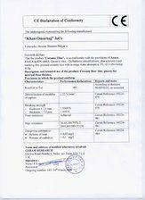 Certificat de conformitate KAI PROGRES CERAMICA