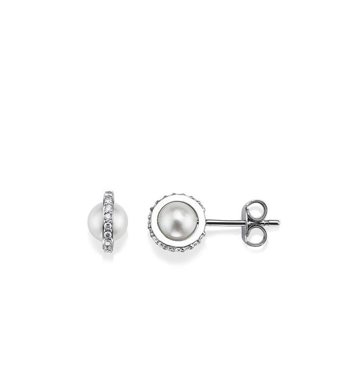 Little Day Pearl & Stars - Guld med diamanter - Örhängen - Efva Attling