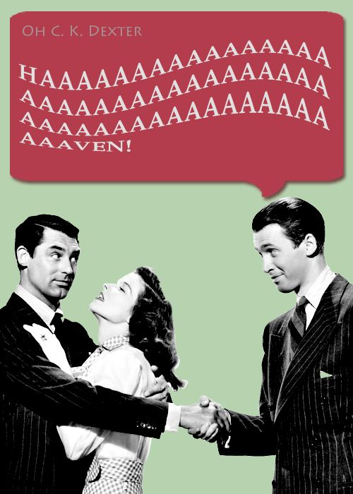 The Philadelphia Story. You have to love watching Jimmy Stewart and Kathryn Hepburn drunk..well, pretend drunk.