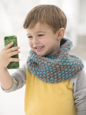 When your child wears this knit cowl on their next backyard adventure, you'll know they're warm and toasty.