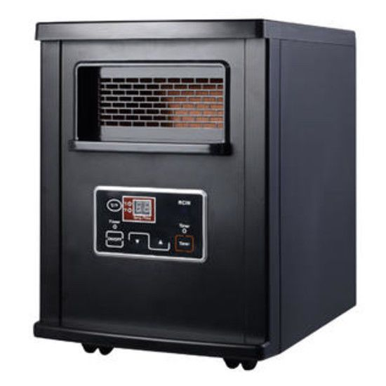 #Electric #Portable #Space #Heater #Remote 1800 Sq. Ft #Infrared #Quartz #Energy #Saver