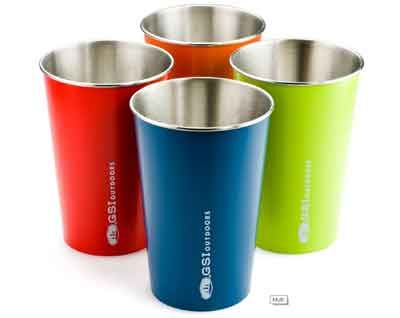 Glacier Stainless Multi-Color Pint Glass Set - Kolorful Kitchen