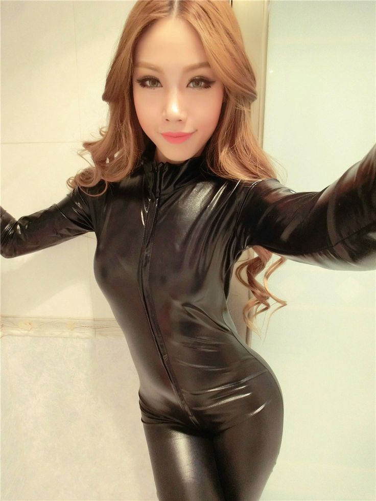 Sexy faux Leather Catsuit Latex Catsuit Pole Dancing Catsuit