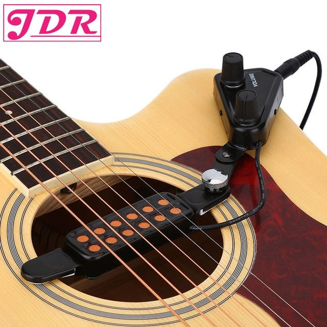 Jdr 12 Hole Acoustic Guitar Sound Hole Pickup Magnetic Transducer With Tone Volume Controller 3m Cable Guitarra Guitar Acoustic Guitar Acoustic Guitar Pickups