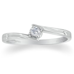 More @ http://promiseringsstore.com Sterling Silver Diamond Solitaire Promise ring