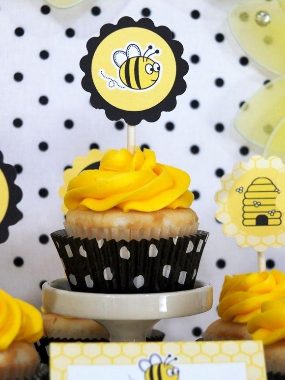 PARTY BLOG por BirdsParty   Imprimibles   Fiestas   DIYCrafts   Recetas   Inspiración: Honey Bee cumpleaños Postres Tabla