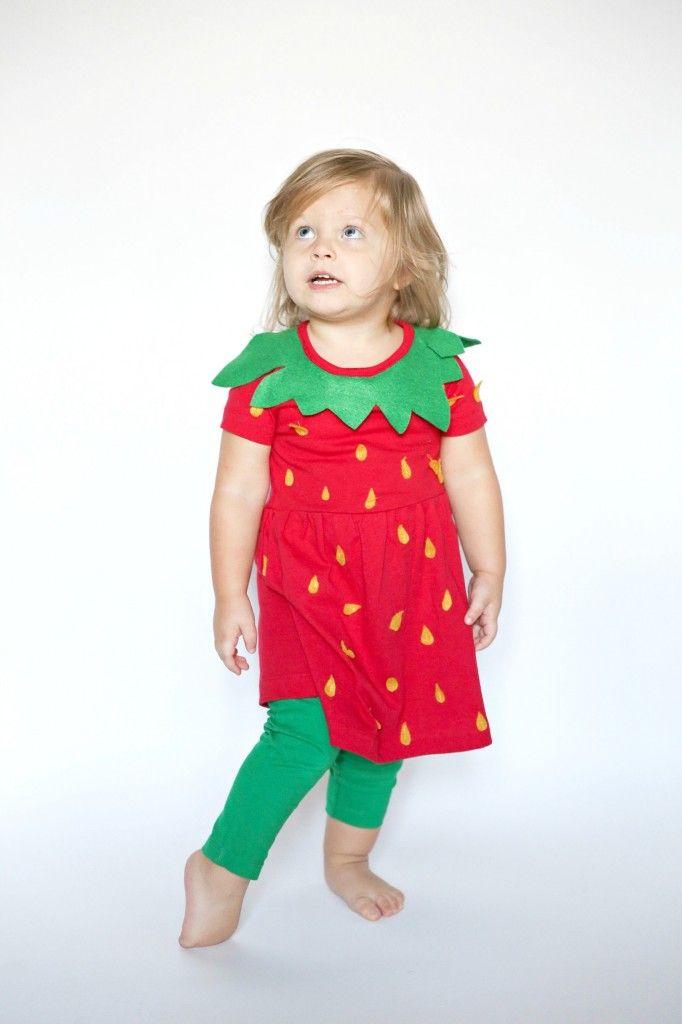 diy strawberry costume - Strawberry Halloween Costume Baby