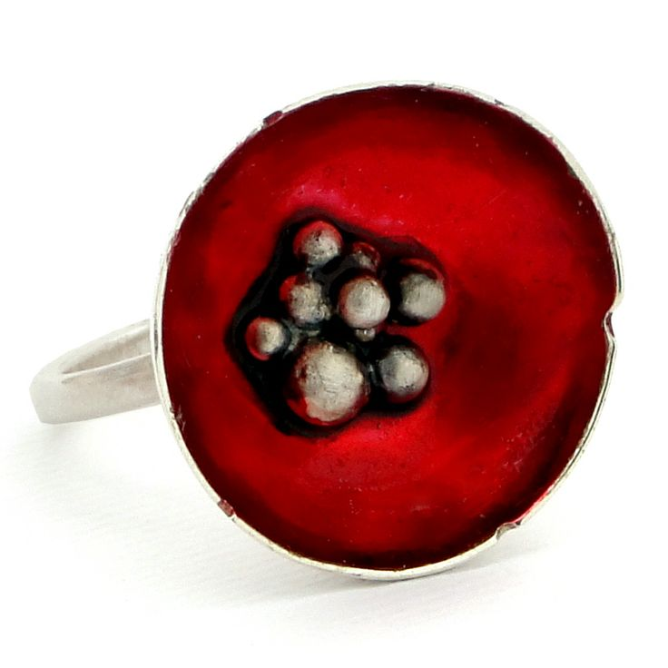 Sterling Silver Poppies Ring