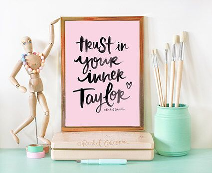 Taylor Swift Quote - Trust In Your Inner Taylor - Typographic Print - Hand Lettering - Inspirational Art - Taylor Swift Poster - Dorm Decor by Rachillustrates on Etsy https://www.etsy.com/listing/238658858/taylor-swift-quote-trust-in-your-inner