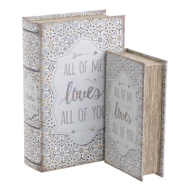 Box Book Set Of 2 Pieces - inart