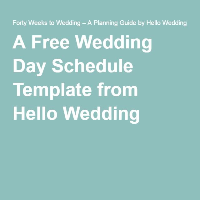 the 25 best wedding day timeline template ideas on pinterest