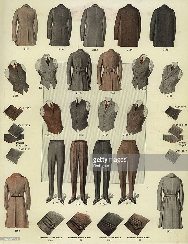 Men's fashions from the 1920s, including overcoats, vests,…Clarisa Ruiz