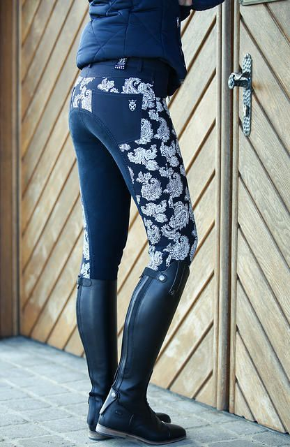 Full seat breeches with a bit of flair will make you a trendsetter at the stable.