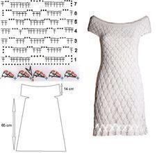Белоснежное платье (вязание крючком) Horgolt hófehér ruha
