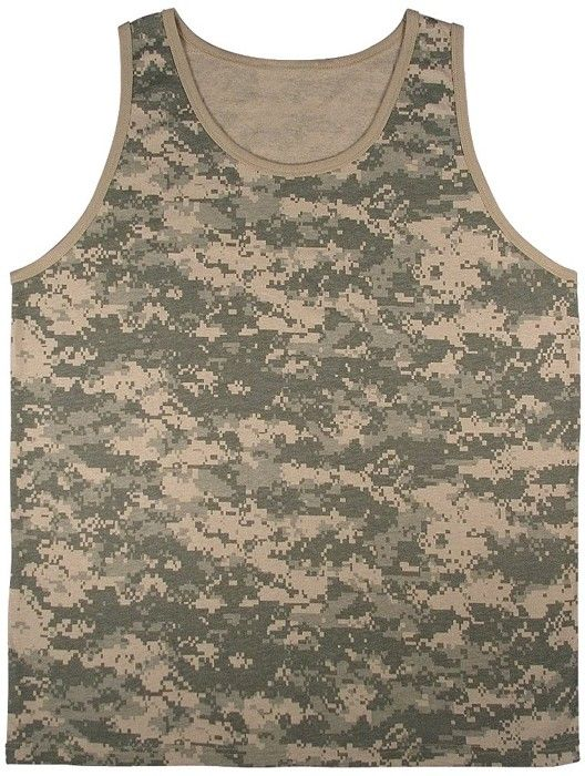 ACU Digital Camouflage Military Physical Training Tank Top | 8764 | $7.99